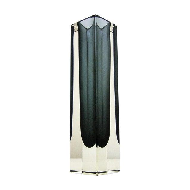 Italian Mandruzzato Murano Mid-Century Modern Gray Glass Vase MCM - Image 1 of 11