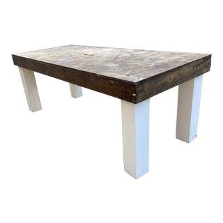 1990s Artist Workshop Craftsman Table For Sale
