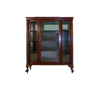 19th Century Traditional Mahogany China Cabinet For Sale