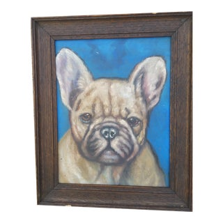 French Bulldog Portrait Oil Painting