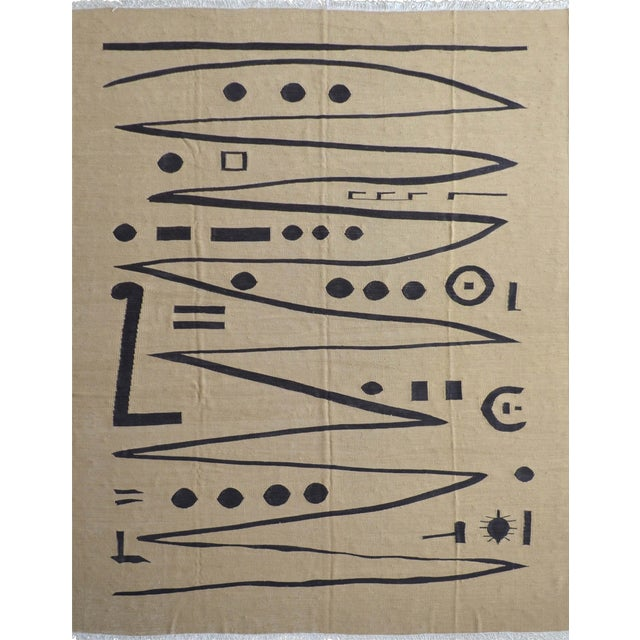 Paul Klee - Heroic Strokes of the Bow - Inspired Silk Hand Woven Area - Wall Rug 5′11″ × 8′5″ For Sale