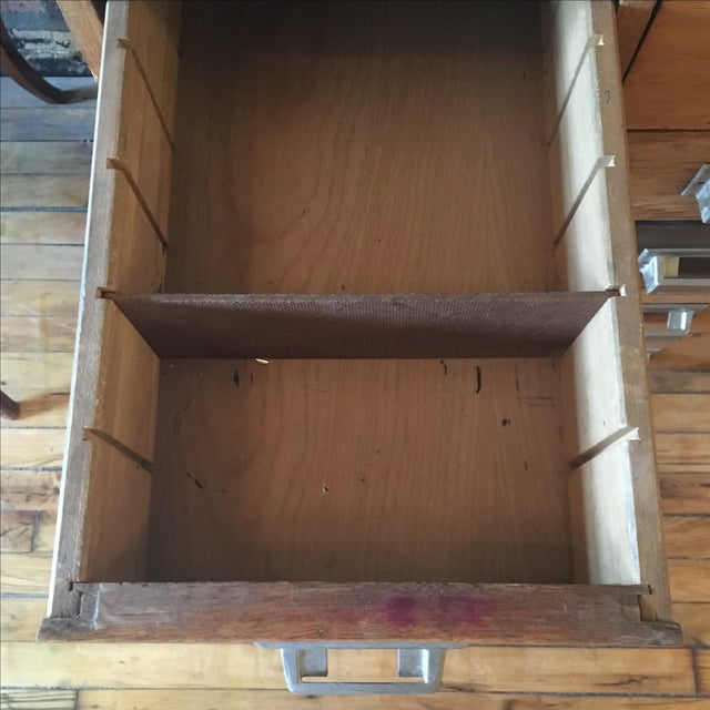 15 Drawer Card Catalog on Hairpin Legs For Sale In Chicago - Image 6 of 11