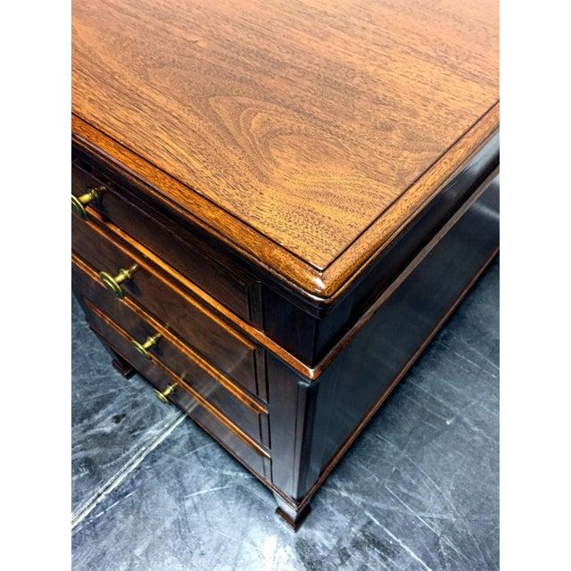 Vintage Solid Walnut Executive Desk by Doten-Dunton For Sale - Image 5 of 11