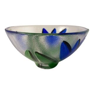 Vintage Kosta Boda Blue Tulip Bowl by Ulrica Hydman Vallien For Sale