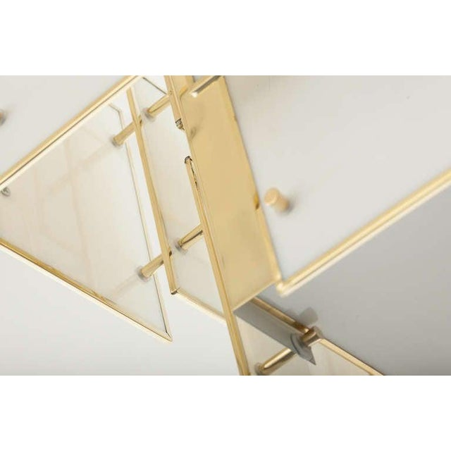 Geometric Milk Glass Panel Chandelier For Sale In New York - Image 6 of 8