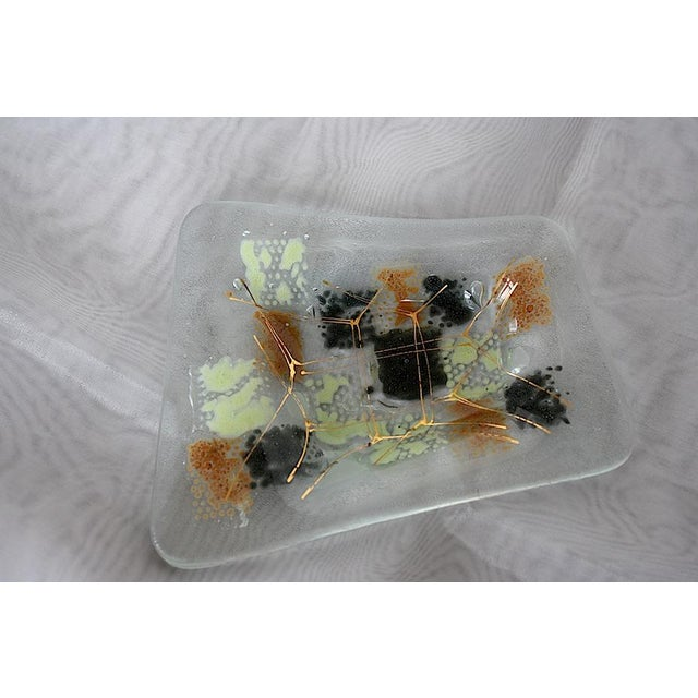 Art Glass Vintage Higgins Glass Mid Century Modern Ashtray For Sale - Image 7 of 8
