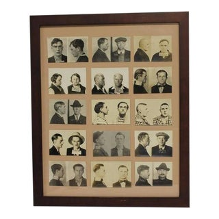 Vintage Framed Seattle & Anamosa Police Mugshots Photographs For Sale