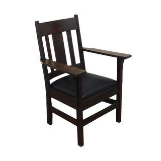 Antique Mission Oak Armchair For Sale