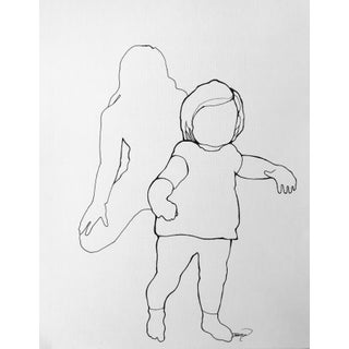 First Steps Contemporary Line Drawing For Sale