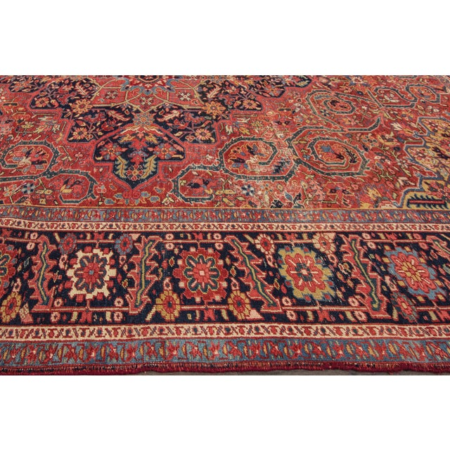 "Apadana - Vintage Persian Heriz Rug, 9'9"" x 13' For Sale - Image 5 of 7"