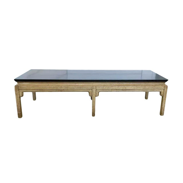 Mid Century Asian Style Bench, Coffee Table For Sale