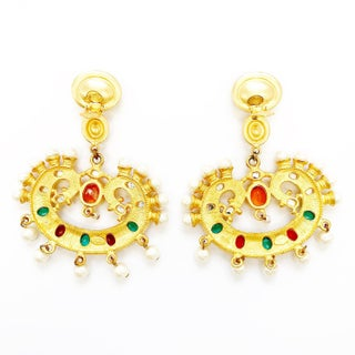 Massive Statement Clip on Earrings by Kenneth Jay Lane Preview