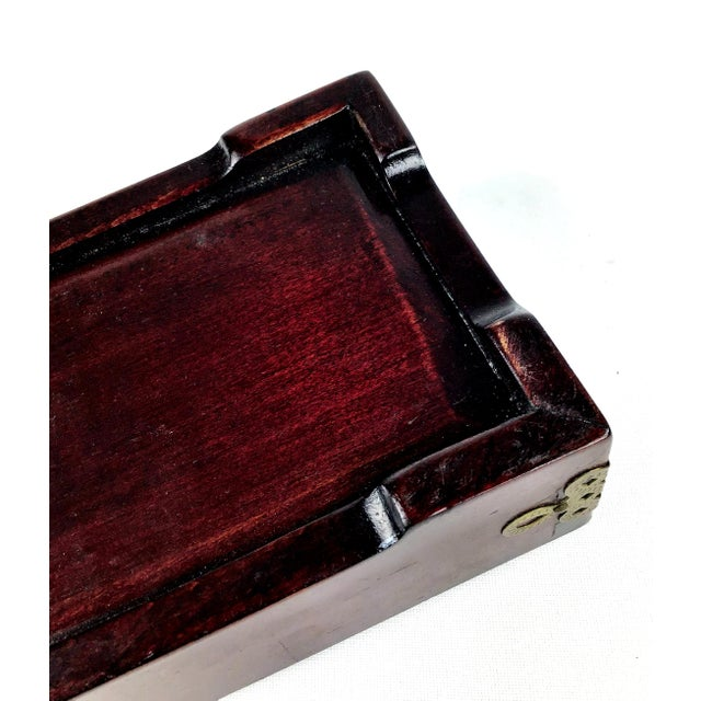 1920s Chinese Jade & Rosewood Cigarette Box For Sale - Image 11 of 13