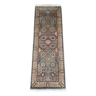 Vintage Pakistani Hand Knotted Wool Runner- 3 X 9' For Sale
