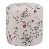 Image of Drum Ottoman in Multi Bamboo Garden For Sale