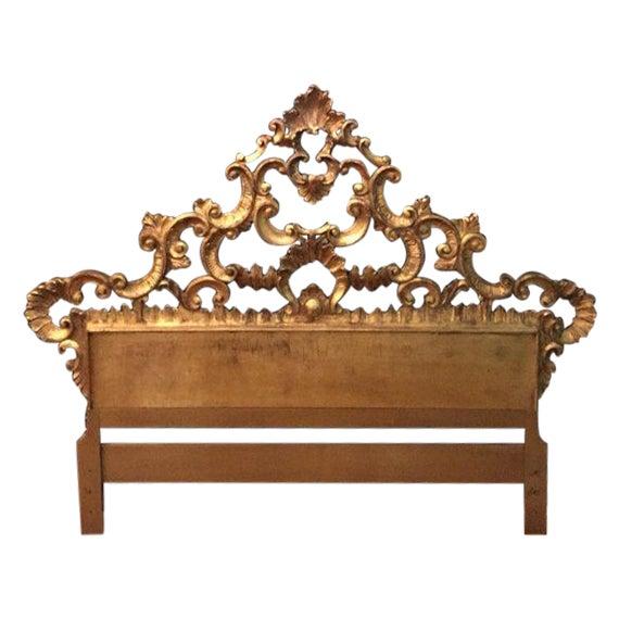 Florentine Gilded Rococo Headboard - Image 1 of 7