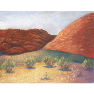 Calico Basin at Red Rock Canyon, Las Vegas Pastel Drawing For Sale