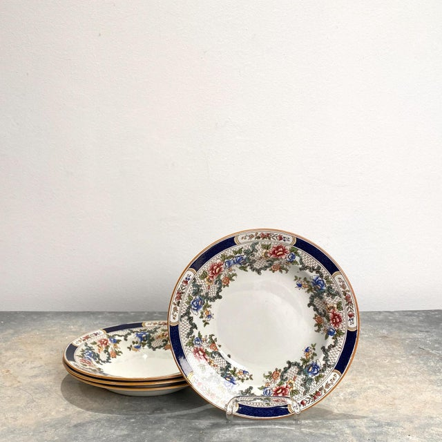 Ceramic Set of 4 Cauldon Soup Plates, England For Sale - Image 7 of 7