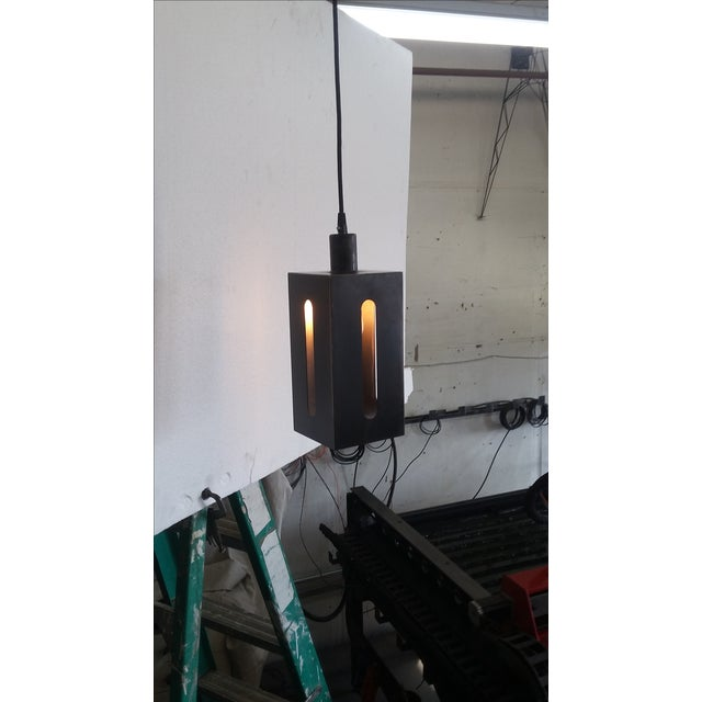 Contemporary Mission Lantern Pendant Light For Sale - Image 3 of 5