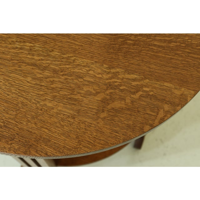 Stickley Stickley Round Mission Oak Occasional Lamp Table For Sale - Image 4 of 8