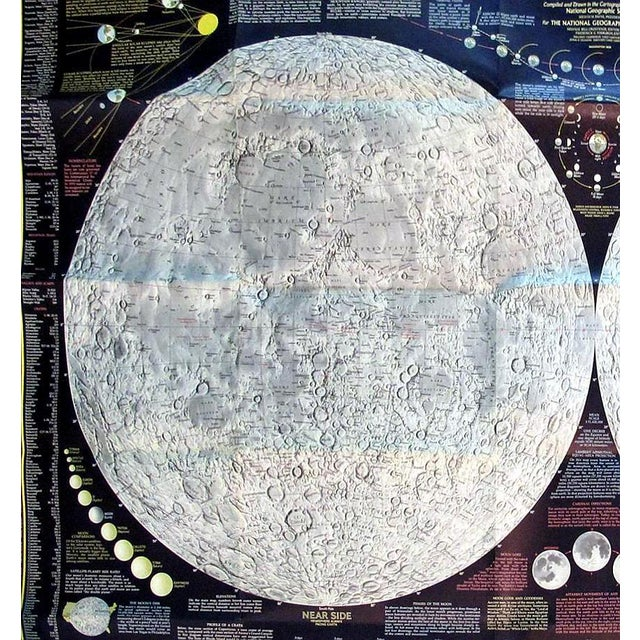"1969 National Geographic ""The Earth's Moon"" Map - Image 5 of 8"
