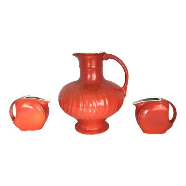 Mid-Century Modern Pitcher & Creamers - Set of 3 For Sale