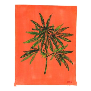 Cannabis Spray Painting by Cleo Plowden For Sale