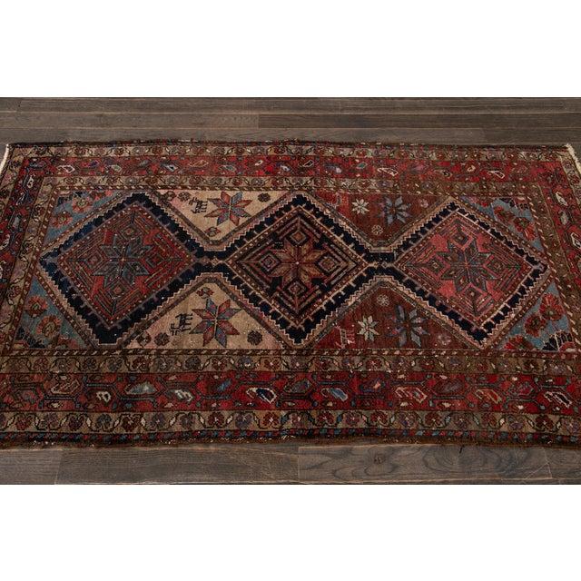 Vintage Heriz Wool Rug 3'7'' X 6'5'' For Sale - Image 9 of 13