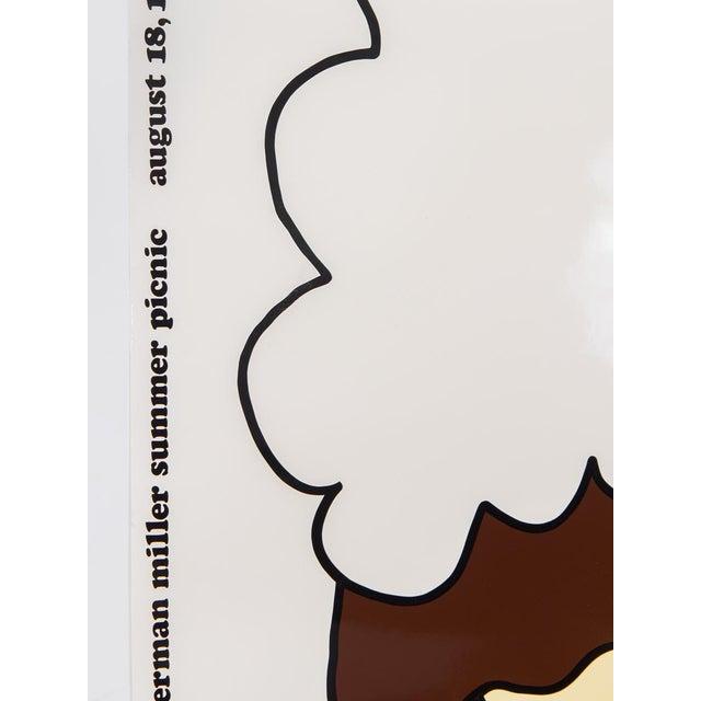 Summer Picnic Ice Cream Sundae Poster, August 18, 1972 designed by Steve Frykholm for Herman Miller. Designed by Frykholm...