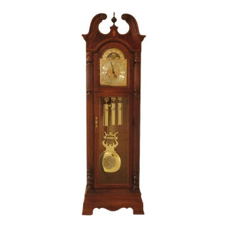 Howard Miller Traditional Cherry Grandfather Clock For Sale