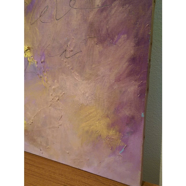 Original Oil on Canvas Abstract Modern Painting - Image 4 of 6