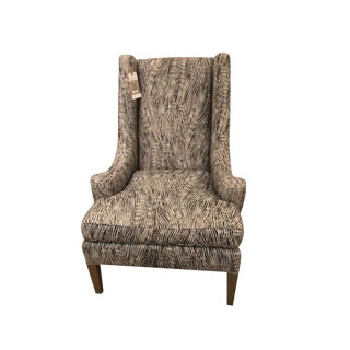Early 21st Century Vintage Schumacher Madison Wing Chair- Sample For Sale
