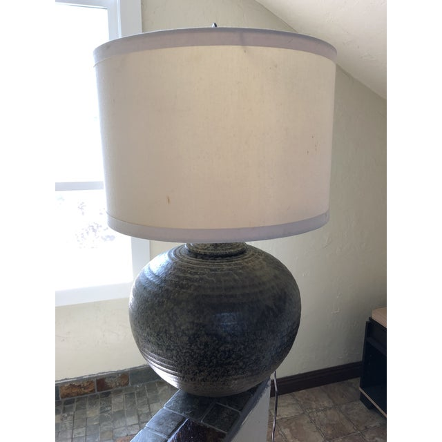Vintage Studio Pottery Lamp Signed by the Artist For Sale - Image 10 of 11