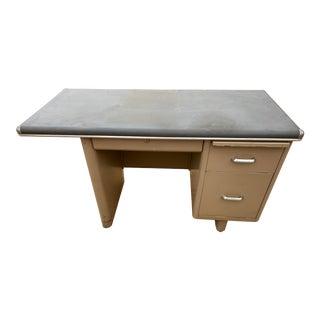 Mid 20th Century Metal Tanker Desk For Sale