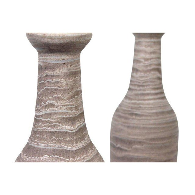 Pair of Large Pottery Table Lamps by Design Technics For Sale - Image 9 of 11