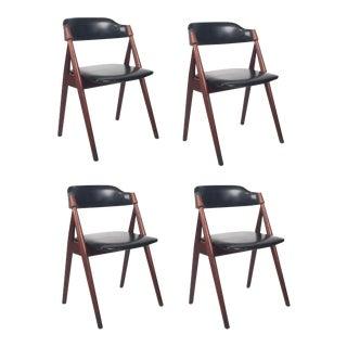 Vintage Danish Teak Dining Chairs - Set of 4