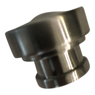 "Restoration Hardware Satin Nickel Grafton Kitchen Cabinet Knob 1.25"" (Matching 4"" Pull Under Separate Listing) For Sale"