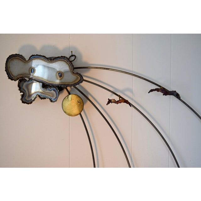 Modern A.j. Stillman Mixed Metals Hanging Wall Sculpture For Sale - Image 3 of 6