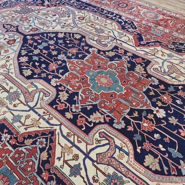 Antique Persian Serapi Heriz Rug- 10′8″ × 16′ For Sale In Nashville - Image 6 of 11