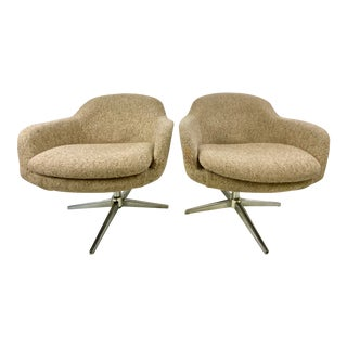 1960s Swivel Lounge Chairs by Carl Eric Klote for Overman - a Pair For Sale