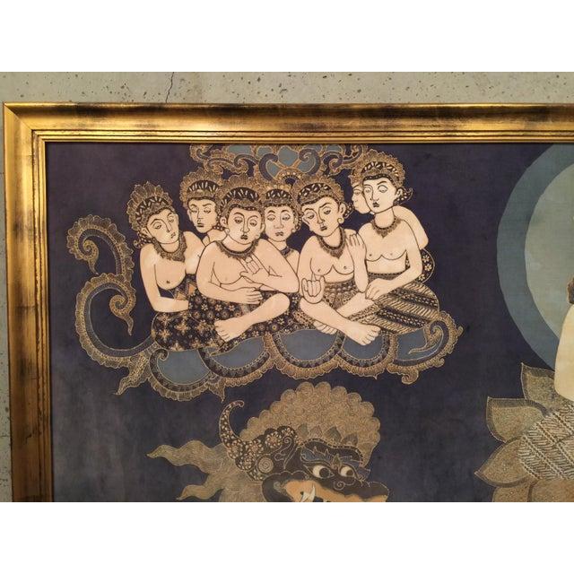 Framed Cultural Theme Indonesian Batik Artwork - Image 9 of 11