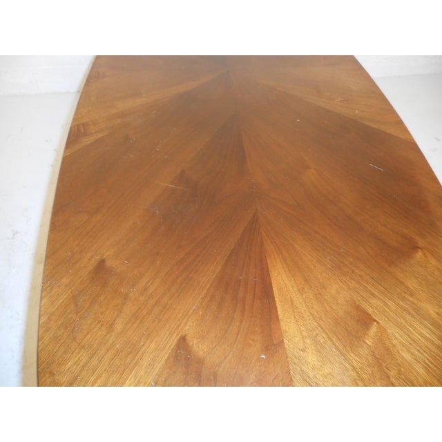 Wood Mid-Century Modern Oval Coffee Table For Sale - Image 7 of 12