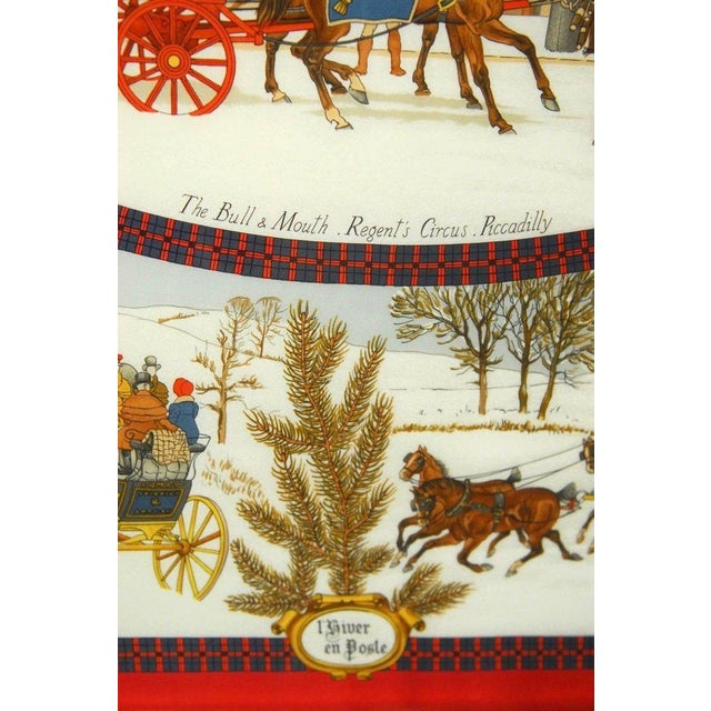 "Glass Framed Hermes Scarf ""Bull and Mouth Regent's Circus Piccadilly"" For Sale - Image 7 of 10"