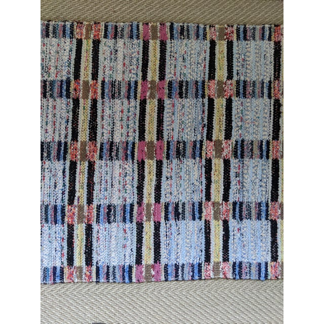 "Handwoven Reversible Vintage Swedish Rug by Scandinavian Made 124"" x 33"" For Sale - Image 10 of 12"