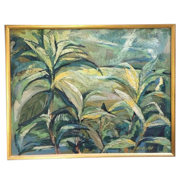 """Marylou Kuh """"Foliage"""" Painting For Sale"""