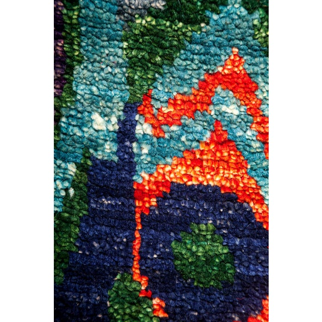 "New Ikat Hand Knotted Area Rug - 7'10"" x 10'2"" - Image 3 of 3"