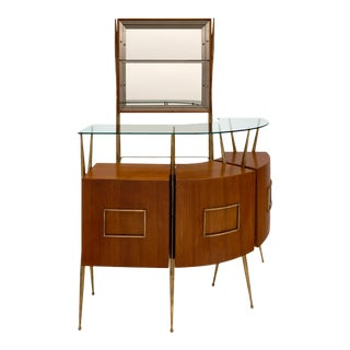Mid-Century Paolo Buffa Style Italian Bar and Case Piece For Sale