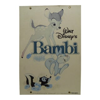 "Mounted Original ""Walt Disney's Bambi"" Movie Poster For Sale"