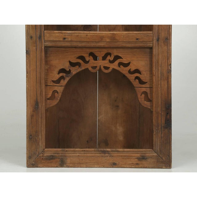 Late 19th Century Antique Pine Hanging Shelf Unit, or Open Cupboard For Sale - Image 5 of 9