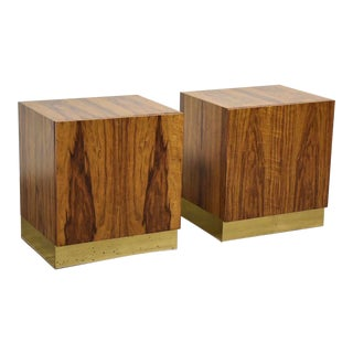 Milo Baughman for Thayer Coggin Nightstands- a Pair For Sale